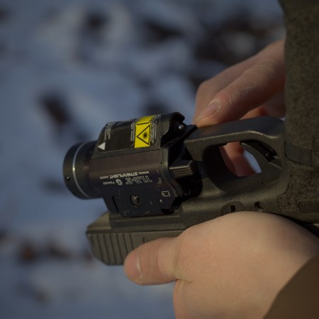The laser versions of the Streamlight series feature a little switch so you can configure whether you want laser only, light only, or both when you activate the unit.