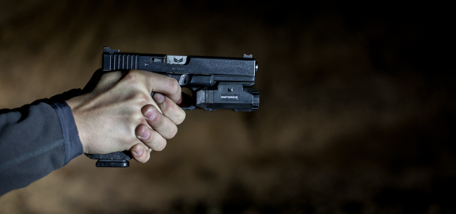 Inforce APL on a Glock 17 with S3F Solutions barrel.