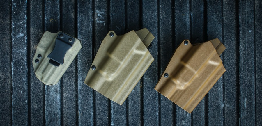 From left to right: FDE, Wolverine Brown, Coyote Brown