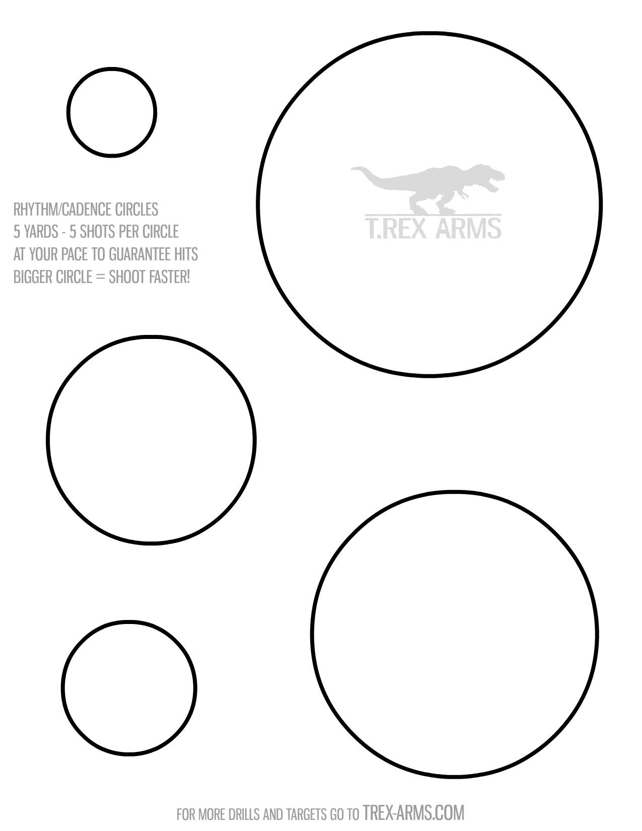 graphic about Printable Pistol Drill Targets titled Performing exercises Will help T.REX Palms